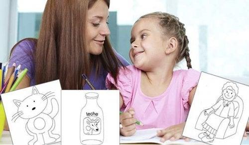 Los padres deben dedicar tiempo para que los niños aprendan a colorear.