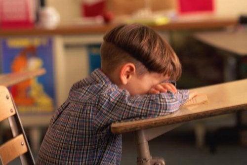 Las horas de clase son muy incómodas para los niños que padecen ansiedad matemática.