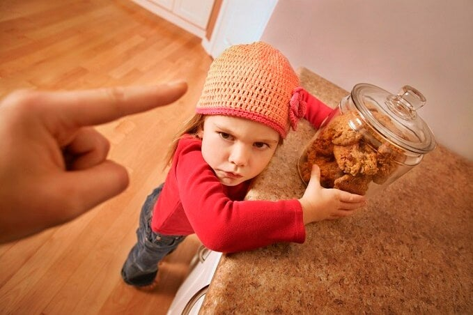 Child gets in trouble for sneaking cookies
