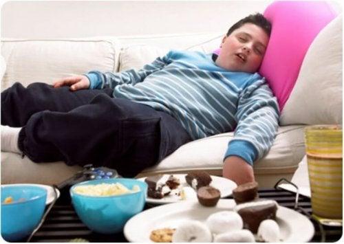 Las hormonas del estrés son superiores en niños obesos