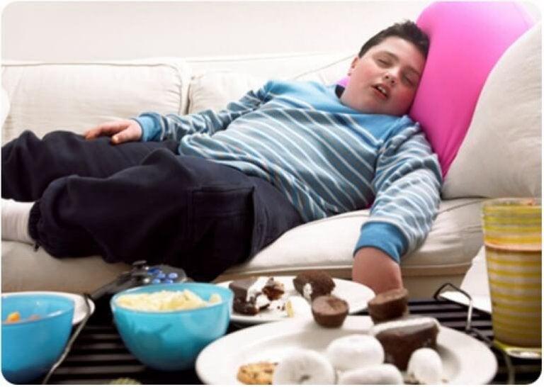 Los efectos del abuso de la comida basura en un niño