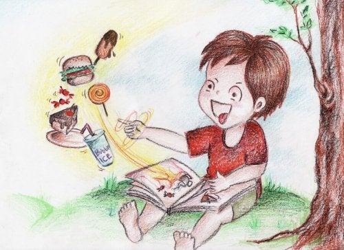 Niño que le encanta la cuentoterapia