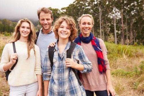 familia de excursion