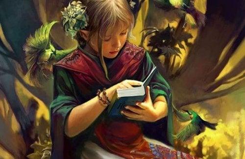 niña leyendo disfrutando de la lectura