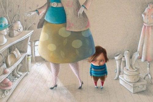 niño enfadado con su madre