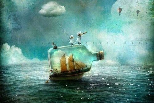 niños barco