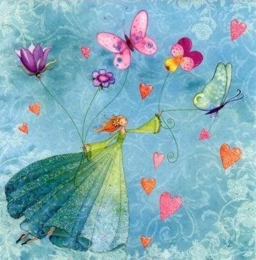 Los niños son mariposas en el viento: permíteles volar tan alto como puedan