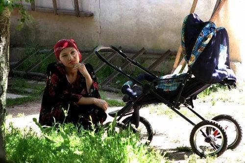 Pasear con tu bebé por zonas ajardinadas