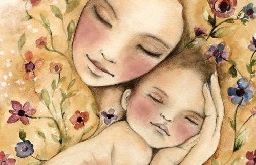 Mi bebé es de esos...¡Solo se duerme en mis brazos!