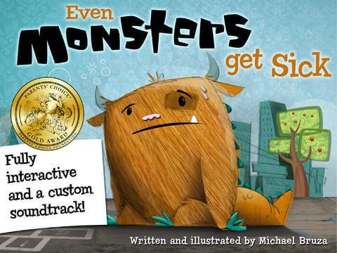Even monster get sick, una de las mejores apps para niños