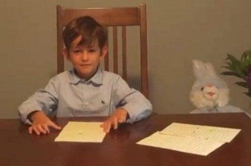 alex niño que escribió al presidente para pedir que trajera a Omran