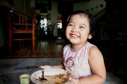 Comidas que alimentan la felicidad del niño
