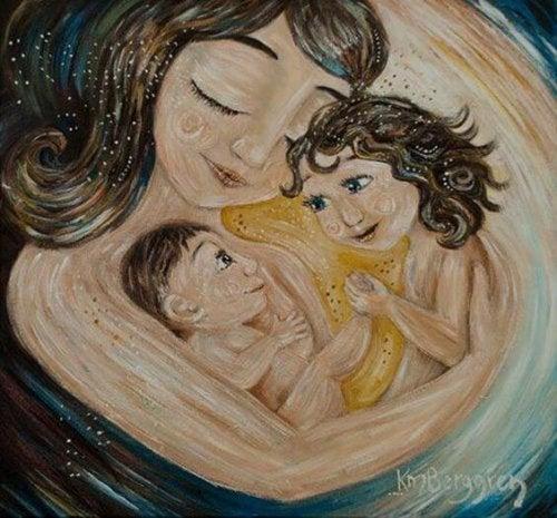 Es importante dar amor a tus hijos