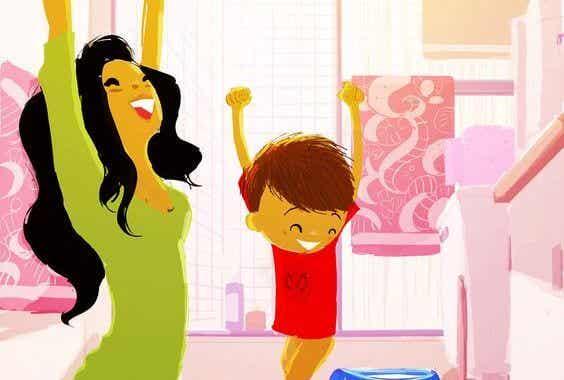 Aplaudir los logros de un niño es incentivarlo a que crezca