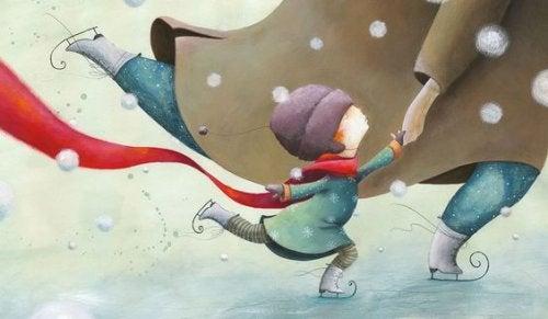 niña patinando
