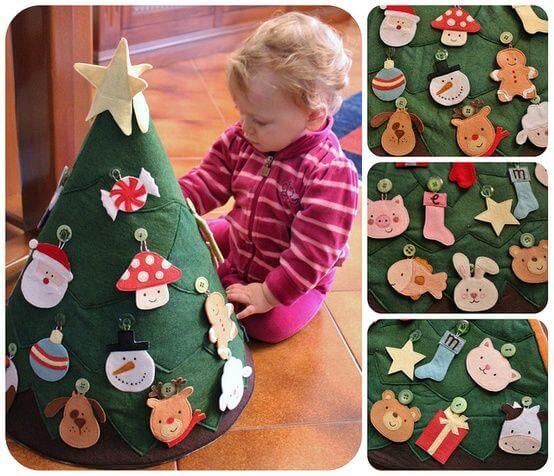 Haz con tu hijo un árbol de navidad Montessori