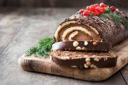 La receta del tronco de Navidad