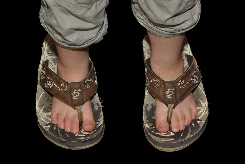 Sandals Girl Child Feet Ten Children