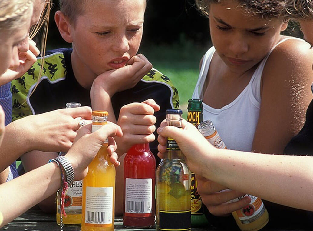 alcohol en niños