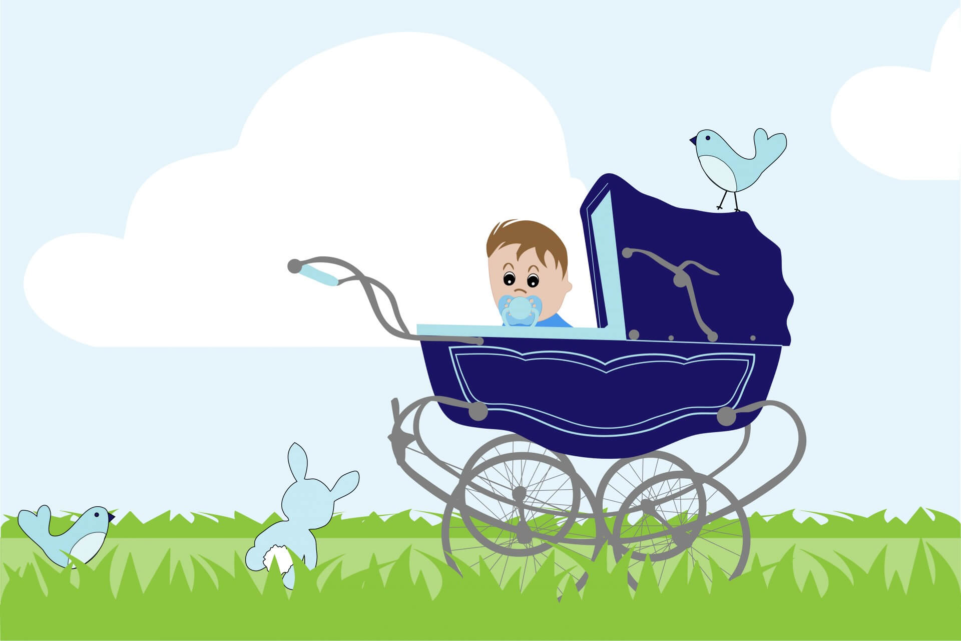 baby-boy-vintage-stroller