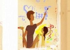 padre-con-su-hija-pintando