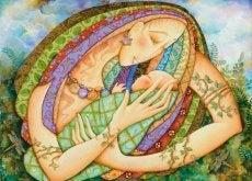 siestas en brazos de mama