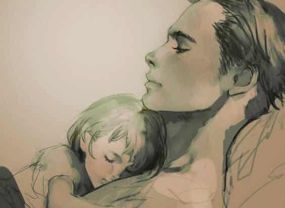 Papá me mantiene cerca de su piel, papá también ha elegido la crianza con apego