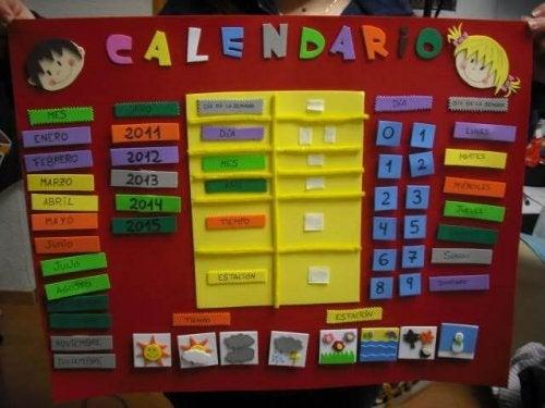 Calendario de actividades: disciplina divertida