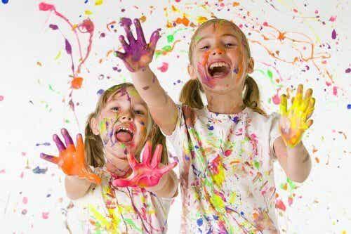Los beneficios de la pintura para los niños