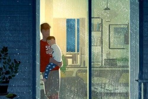 Papá es ese que con un abrazo, me quita todas las penas