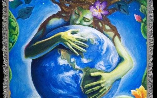 mujer-abrazada-al-mundo-recordando-su-parto