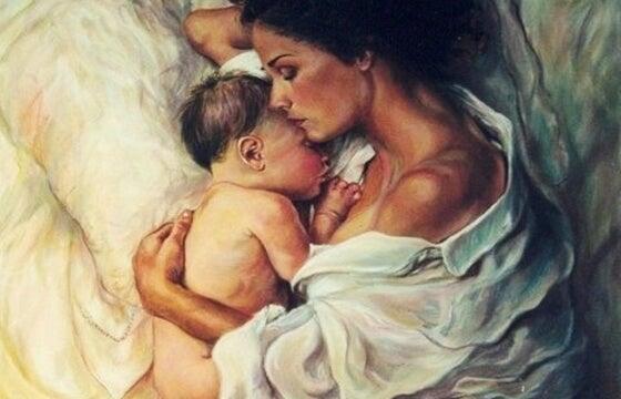 mamá con su hijo disfrutando del presente