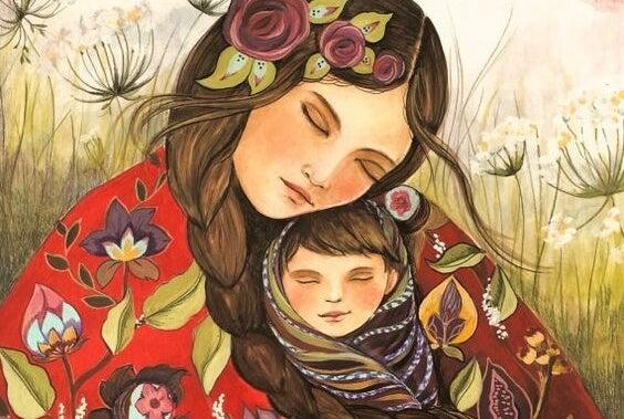 Cuando un hijo ríe feliz hay una mamá tocando el cielo