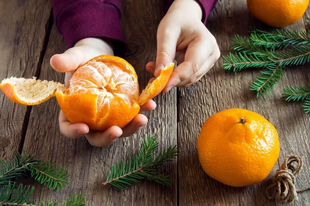 La mandarina es una de las frutas ideales para la embarazada.