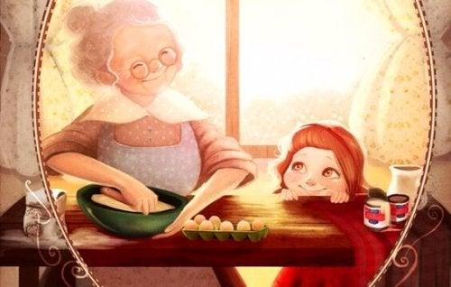 Abuela, cuéntame otra vez qué sentiste cuando me viste por primera vez
