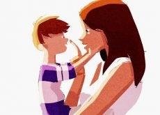 mama que enseña a su hijo que lo más bonito no se compra