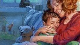 madre abrazando a su hijo demostrándole el cuánto te quiero