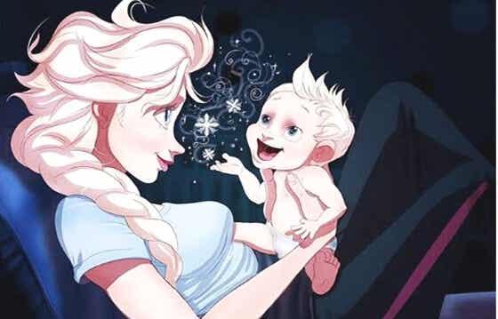 Amor de mamá es cuando tu bebé empieza a hablar y solo tú lo entiendes