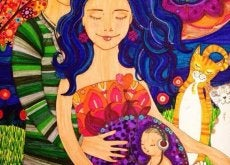 mujer abrazada por su pareja en una relación perfecta