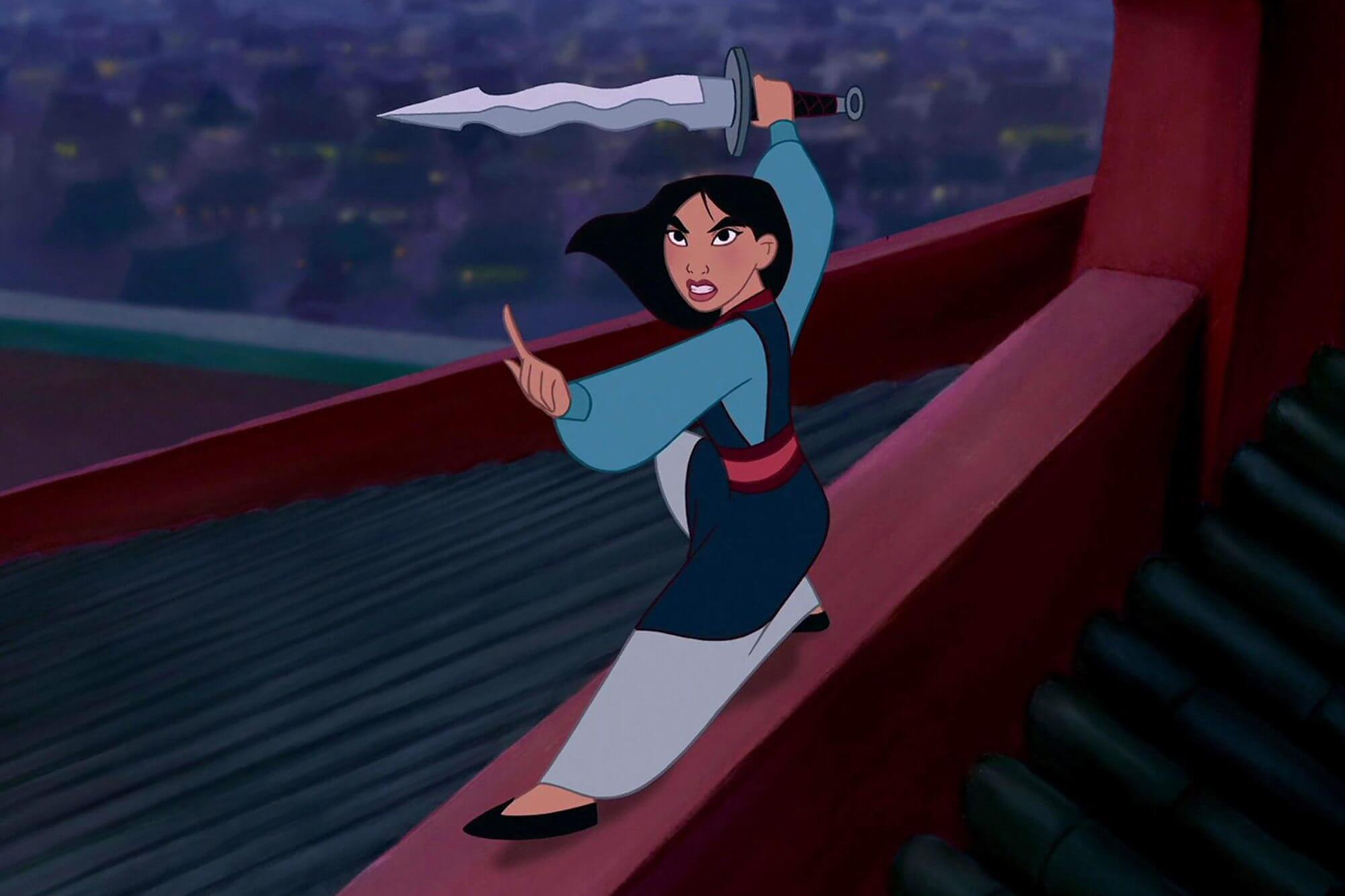 Mulan, princesa Disney en la que se empieza a ver una pequeña evolución.