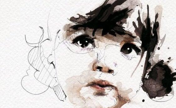 rostro de una niña donde habita la bondad