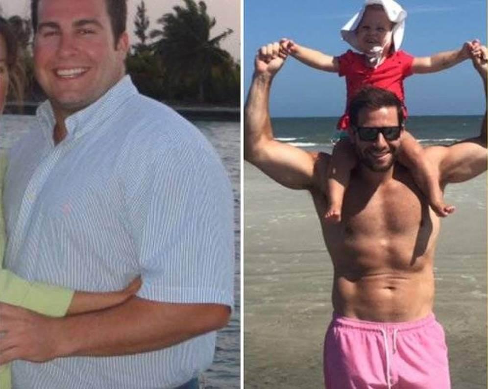 Perdió 30 kilos cuando supo que sería padre