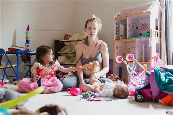 Una foto viral expone la enfermedad de la que las madres no hablan