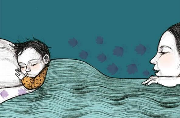 Los niños dormirán mejor si los padres los acompañan