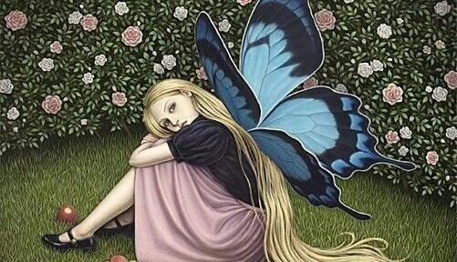niña con alas