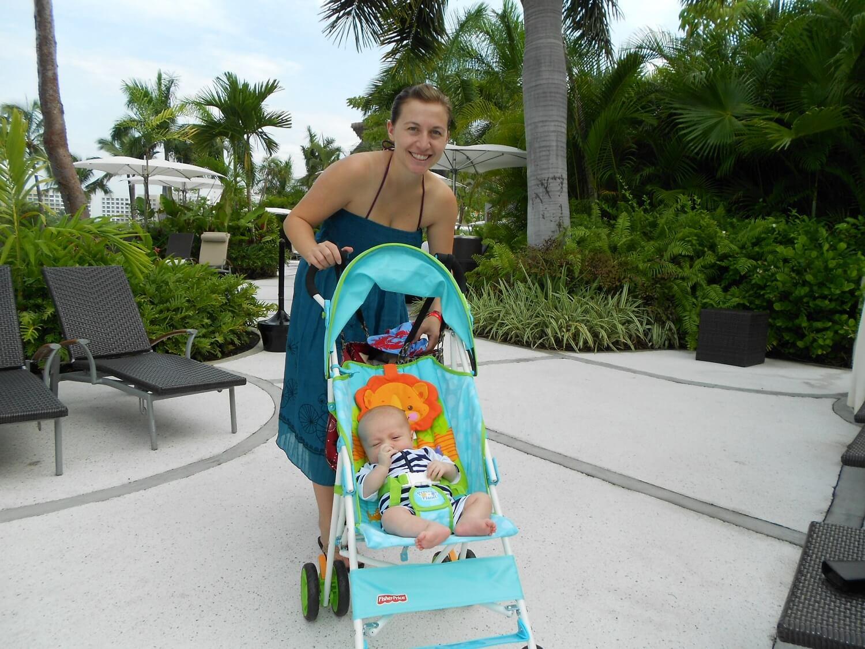 ¿Qué debo considerar en cuanto a la mochila del carrito para mi bebé?