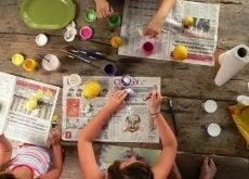 Las manualidades sencillas para niños ayudan a desarrollar su creatividad
