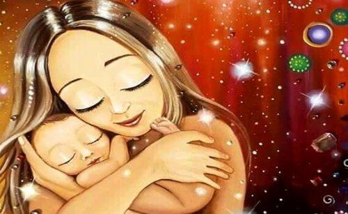 Es normal que los bebés quieran estar siempre en brazos de su madre.