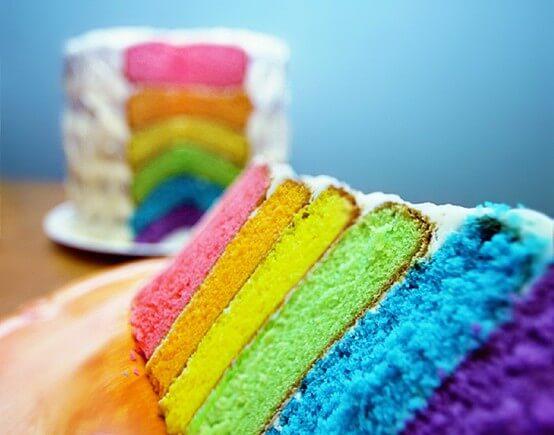 Los postres arcoíris: todo un fenómeno