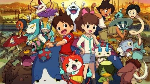 Yokai Watch, dibujos animados al estilo anime.